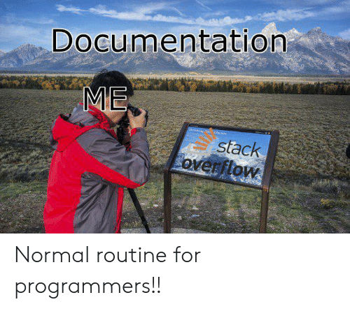 routine: Documentation  ME  Shrlaklget Gaciens  stack  overflow Normal routine for programmers!!