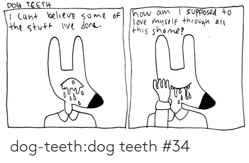 Love, Tumblr, and Blog: DOG TEETH  I Cant believe some of  the stuft Ive done.  ! suPposed to  how am  love myself through all  this shame? dog-teeth:dog teeth #34