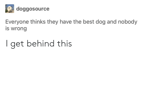 Best Dog: doggosource  Everyone thinks they have the best dog and nobody  is wrong I get behind this