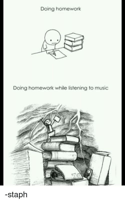 Does music help you do homework faster
