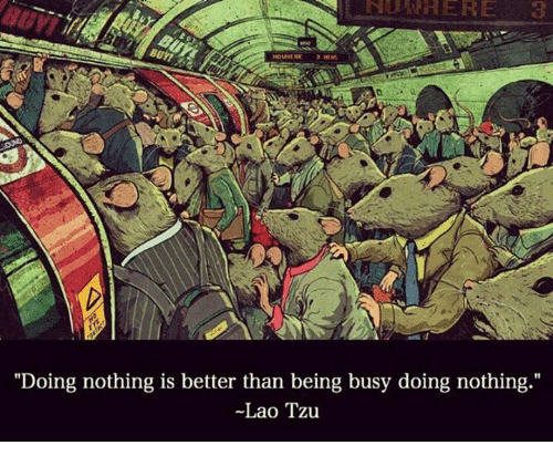 """laos: """"Doing nothing is better than being busy doing nothing  Lao Tzu"""