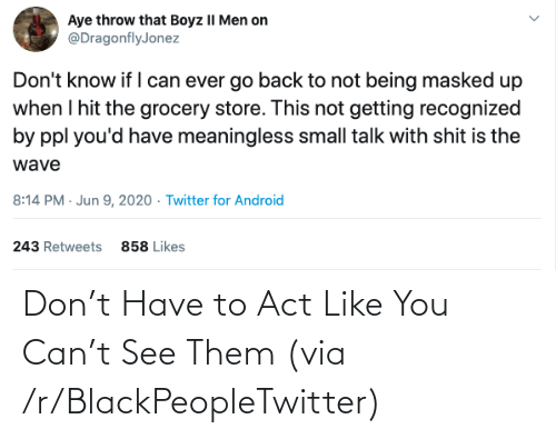 R Blackpeopletwitter: Don't Have to Act Like You Can't See Them (via /r/BlackPeopleTwitter)