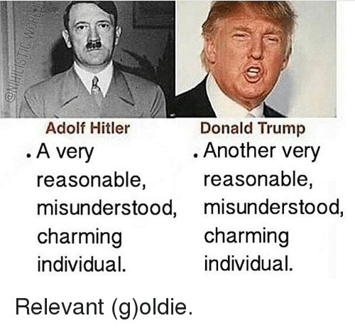 Search Trump And Hitler Memes on me.me