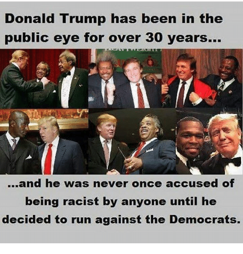 Image result for DONALD TRUMP WASN'T RACIST FOR 70 YEARS