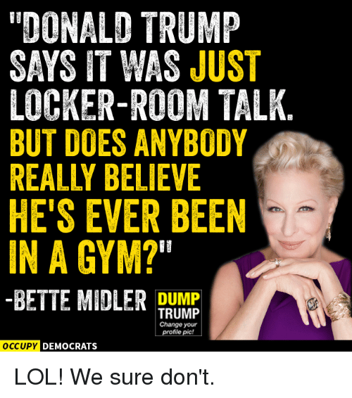 Best memes about locker room talk