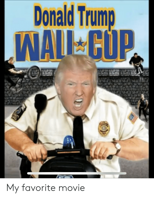 Trump Wall: Donald Trump  WALL CUP  RITY  RD My favorite movie