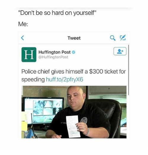 Don't Be So Hard On Yourself Me Tweet Huffington Post Post