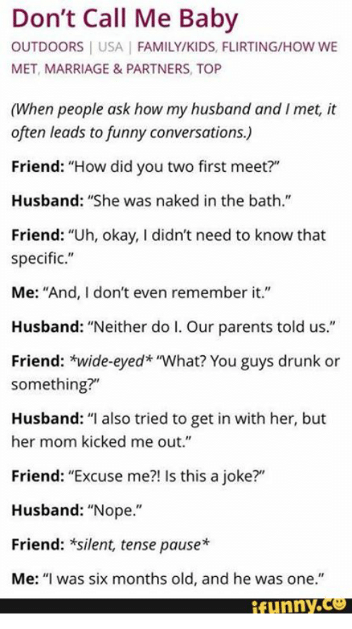 funny long conversation between two friends who meet