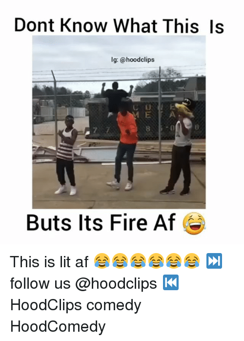 Af, Fire, and Funny: Dont Know What This Is  lg: @hoodclips  Buts its Fire Af This is lit af 😂😂😂😂😂😂 ⏭ follow us @hoodclips ⏮ HoodClips comedy HoodComedy