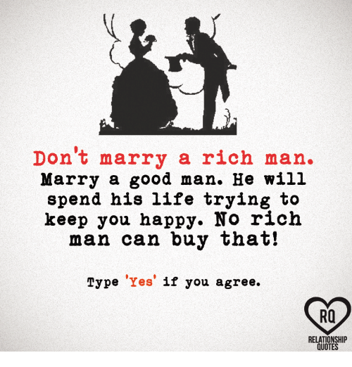 Find a rich man to marry