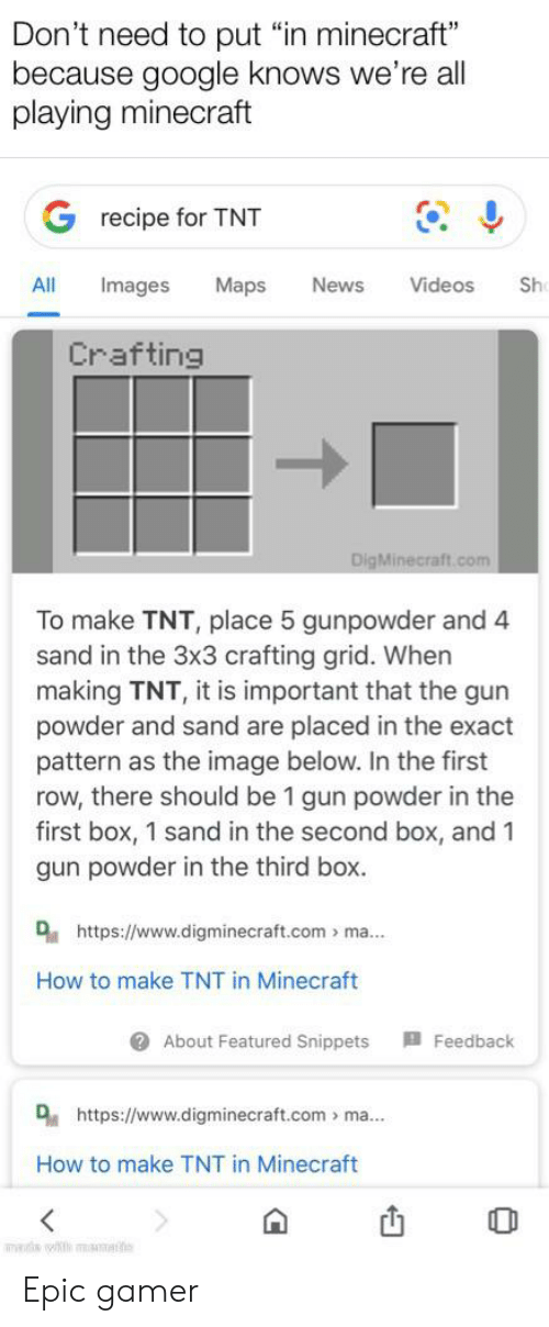 25 Best Memes About How To Make Tnt In Minecraft How