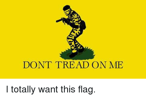 dont tread on me i totally want this flag 5441671 don't tread on me i totally want this flag meme on sizzle