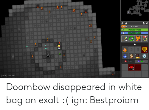 disappeared: Doombow disappeared in white bag on exalt :( ign: Bestproiam