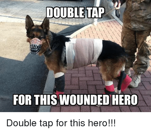 Memes, 🤖, and Hero: DOUBLE TAP  FOR THIS WOUNDED HERO Double tap for this hero!!!