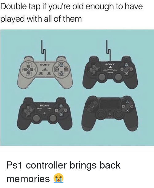 Youre Old: Double tap if you're old enough to have  played with all of them  SONY  SONY  SONY Ps1 controller brings back memories 😭