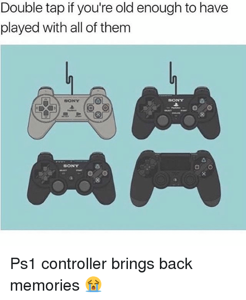ps1: Double tap if you're old enough to have  played with all of them  SONY  よ  SONY  SONY Ps1 controller brings back memories 😭