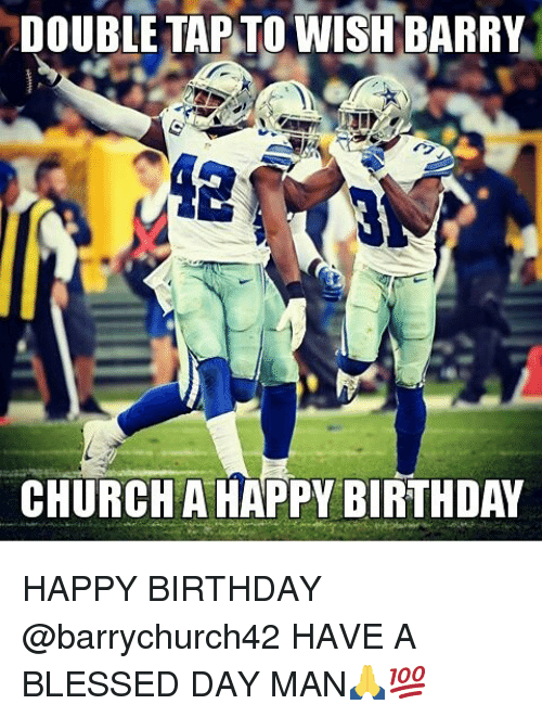 Having A Blessed Day: DOUBLE TAP TO WISH BARRY  CHURCH A HAPPY BIRTHDAY HAPPY BIRTHDAY @barrychurch42 HAVE A BLESSED DAY MAN🙏💯