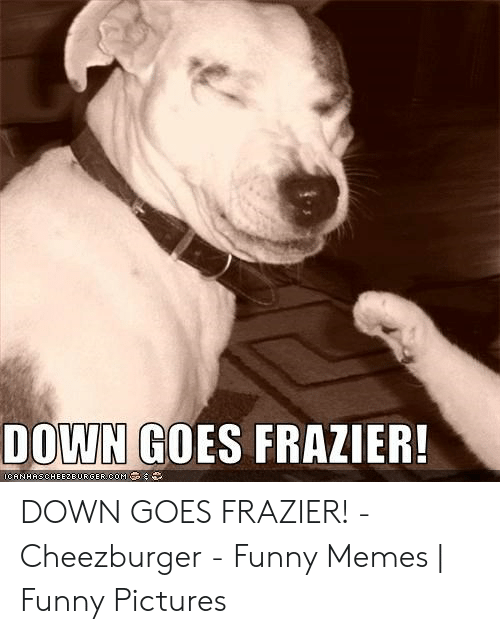 Down Goes Frazier: DOWN GOES FRAZIER!  OCANHASCHEE2DORGER COM DOWN GOES FRAZIER! - Cheezburger - Funny Memes | Funny Pictures