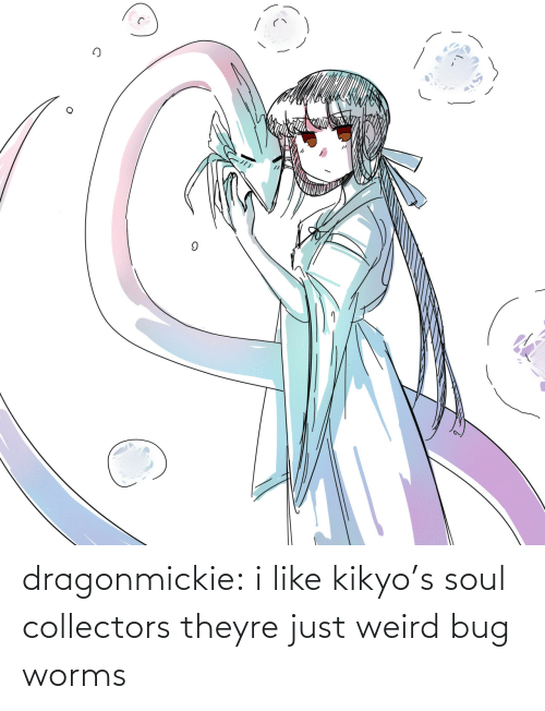 worms: dragonmickie:  i like kikyo's soul collectors theyre just weird bug worms