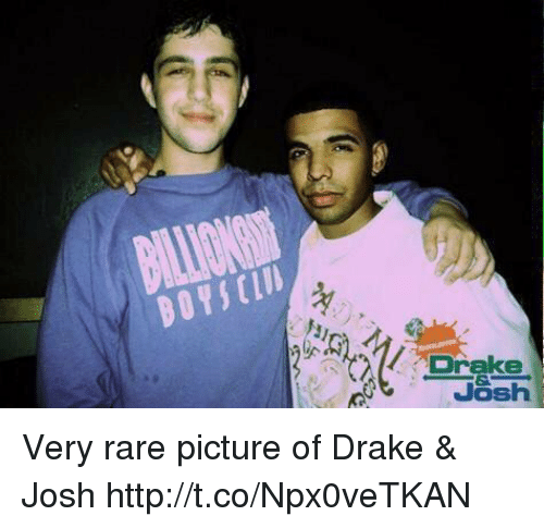 Drake, Drake & Josh, and Http: Drake  Josh Very rare picture of Drake & Josh http://t.co/Npx0veTKAN