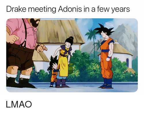 Drake, Lmao, and Dank Memes: Drake meeting Adonis in a few years  .2 LMAO
