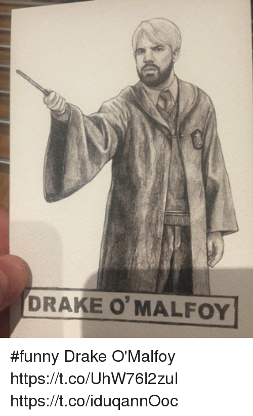 Drake, Funny, and Memes: DRAKE O'MALFOY #funny Drake O'Malfoy https://t.co/UhW76l2zuI https://t.co/iduqannOoc
