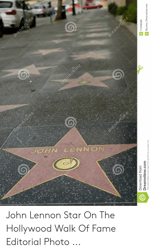 John Lennon Walk: dreamstime  dreamstime  Ireamstime  JOHN LENNON  dreamstine  Download from  ID 110492566  (6  Dreamstime.com  Biansho Dreamstime.com  image is for previewing purposes only. John Lennon Star On The Hollywood Walk Of Fame Editorial Photo ...
