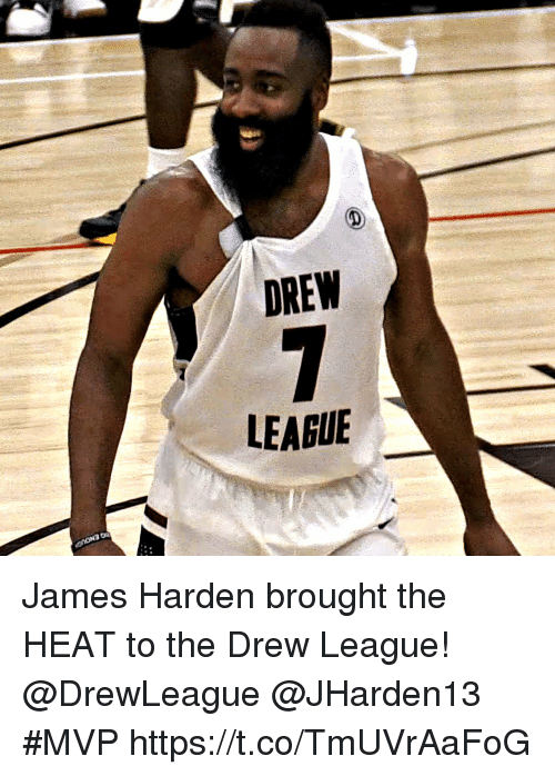 Sizzle: DREW  LEAGUE James Harden brought the HEAT to the Drew League! @DrewLeague @JHarden13 #MVP https://t.co/TmUVrAaFoG