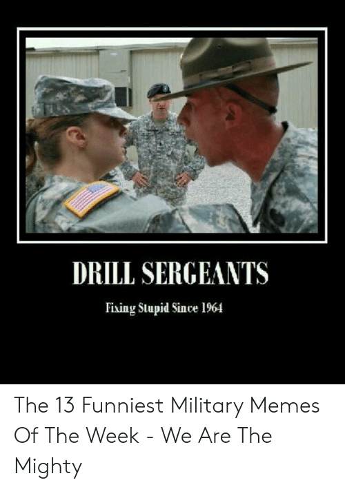13 Funniest: DRILL SERGEANTS  Fiing Slupid Since 1964 The 13 Funniest Military Memes Of The Week - We Are The Mighty