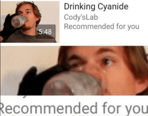 cyanide: Drinking Cyanide  Cody's Lab  Recommended for you  5:48  Recommended for you