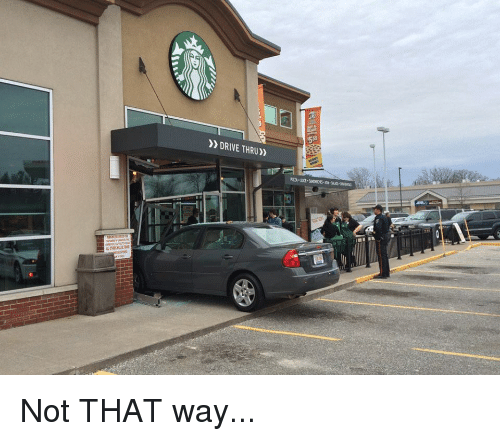 Driving, Drive, and Lol Wat: DRIVE THRU)) Not THAT way...
