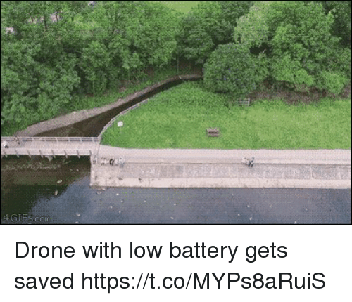 Drone, Battery, and Saved: Drone with low battery gets saved https://t.co/MYPs8aRuiS