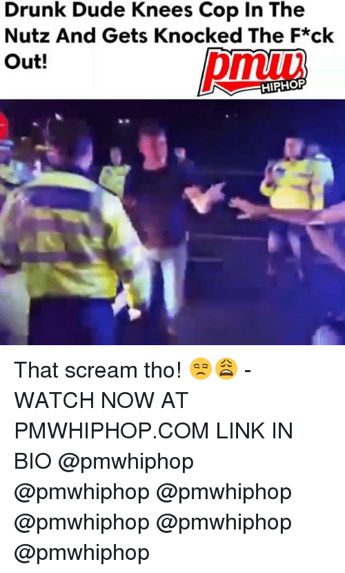 Drunk, Dude, and Memes: Drunk Dude Knees Cop In The  Nutz And Gets Knocked The F*ck  Out!  HIPHOP That scream tho! 😒😩 - WATCH NOW AT PMWHIPHOP.COM LINK IN BIO @pmwhiphop @pmwhiphop @pmwhiphop @pmwhiphop @pmwhiphop @pmwhiphop