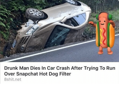 dog filter: Drunk Man Dies In Car Crash After Trying To Run  Over Snapchat Hot Dog Filter  8shit.net