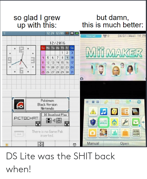 ds lite: DS Lite was the SHIT back when!