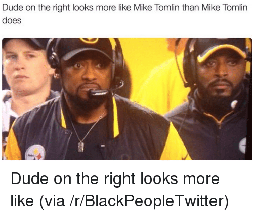 Mike Tomlin: Dude on the right looks more like Mike Tomlin than Mike Tomlirn  does <p>Dude on the right looks more like (via /r/BlackPeopleTwitter)</p>