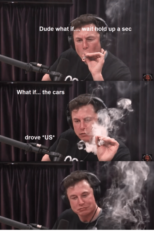the cars: Dude what if... wait hold up a sec  What if... the cars  drove *US*