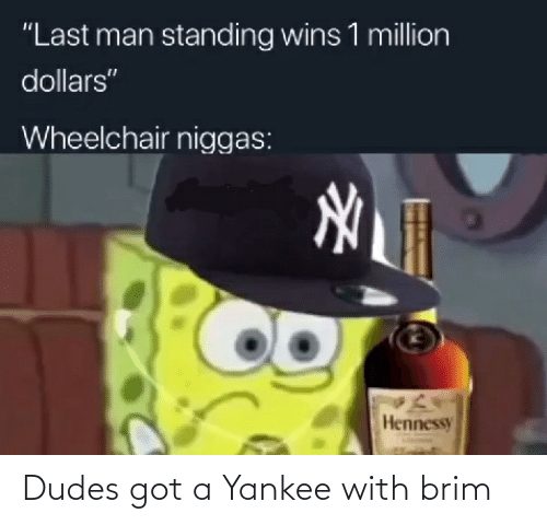 Dank Memes, Got, and  Brim: Dudes got a Yankee with brim
