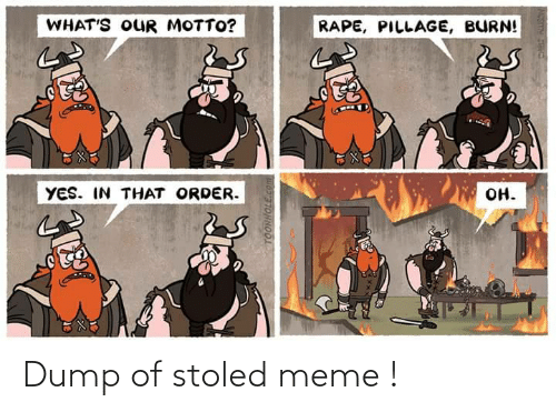 meme: Dump of stoled meme !