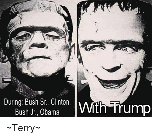 clinton bush: During: Bush Sr., Clinton,  Bush Jr., Obama  ith Trump ~Terry~