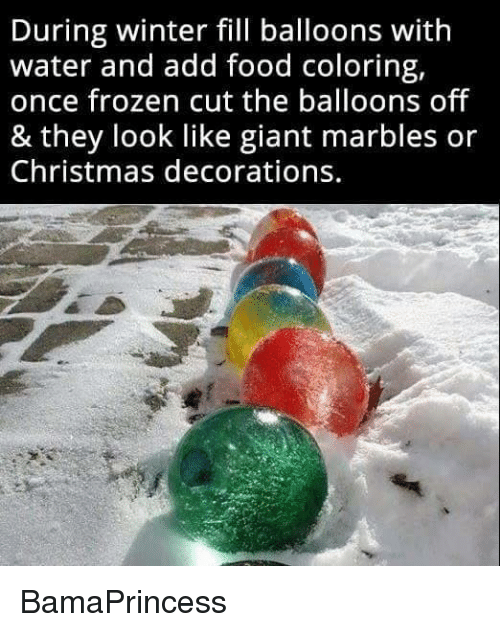 Funny marble memes of 2017 on sizzle definitely for Water balloon christmas decorations