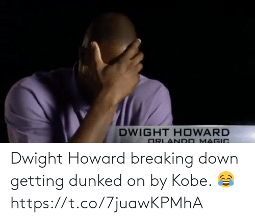Howard: Dwight Howard breaking down getting dunked on by Kobe. 😂 https://t.co/7juawKPMhA