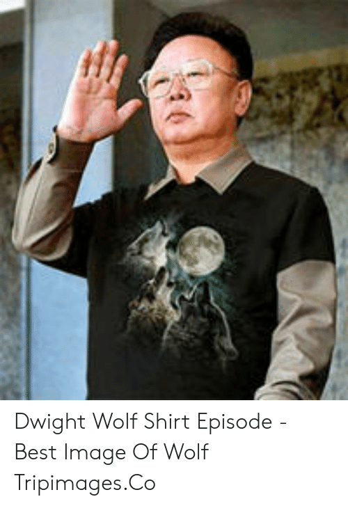 wolf shirt: Dwight Wolf Shirt Episode - Best Image Of Wolf Tripimages.Co