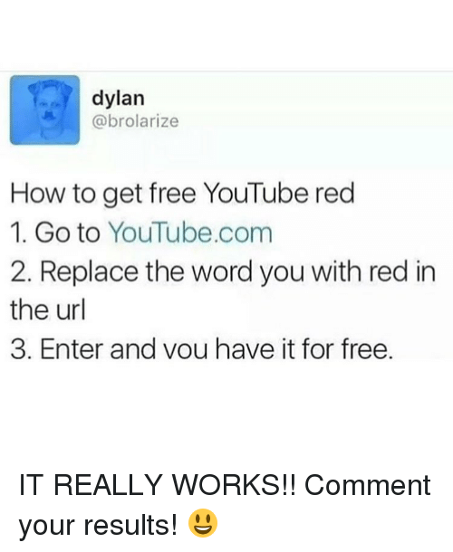 Image result for how to get youtube red for free meme