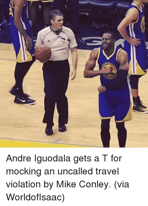 mike conley: , e»へ  フ. Andre Iguodala gets a T for mocking an uncalled travel violation by Mike Conley. (via WorldofIsaac)