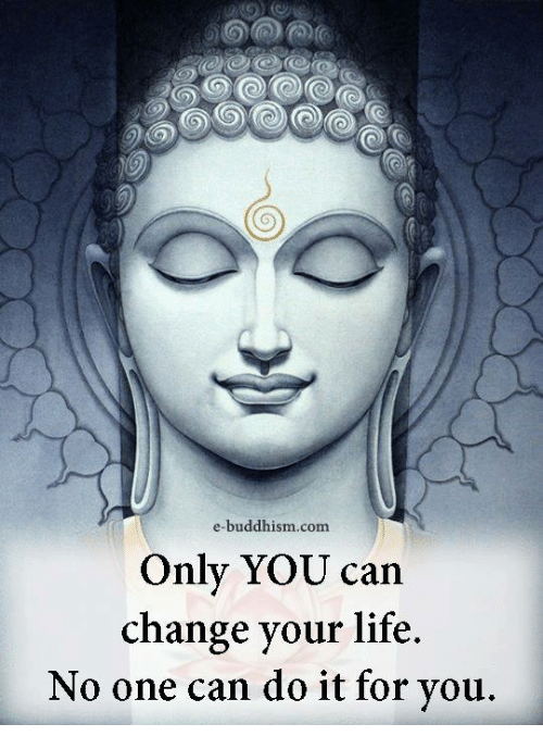 Life, Memes, and Buddhism: e-buddhism com  Only YOU can  change your life.  No one can do it for you