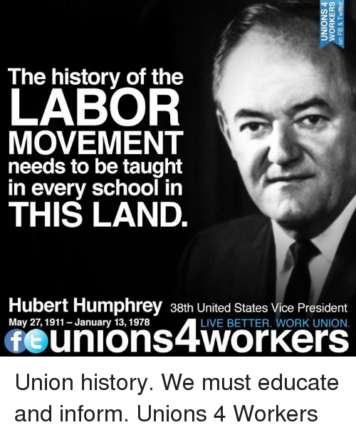a history of the labor unions in the united states