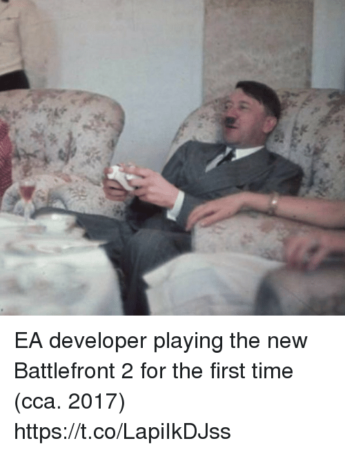 battlefront 2: EA developer playing the new Battlefront 2 for the first time (cca. 2017) https://t.co/LapiIkDJss