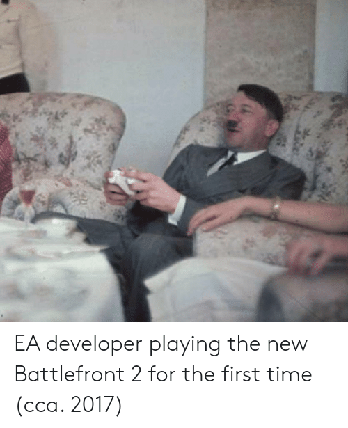 battlefront 2: EA developer playing the new Battlefront 2 for the first time (cca. 2017)