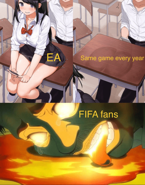 fifa: EA  Same game every year  FIFA fans